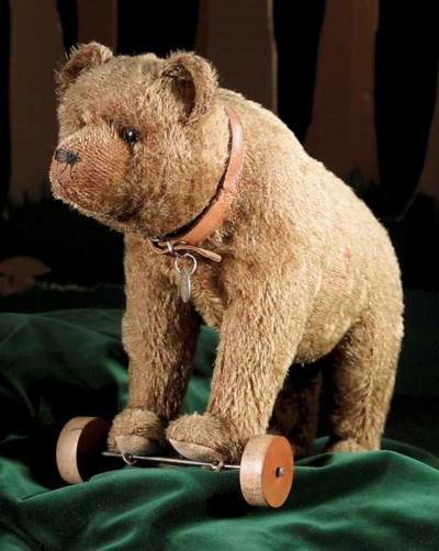 A Bing bear on wheels