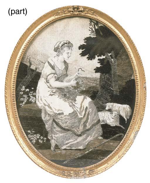 A Regency woven hair oval pict
