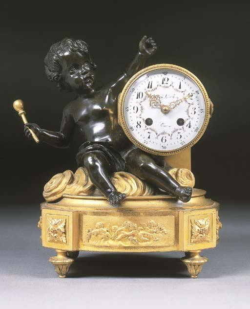 A French ormolu and bronze mou