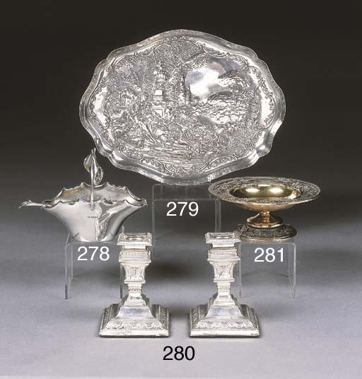 A George V Silver-Gilt Pedesta