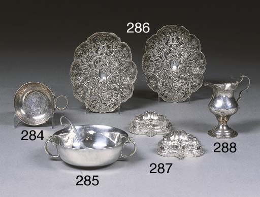 A Danish Silver Bowl and Spoon