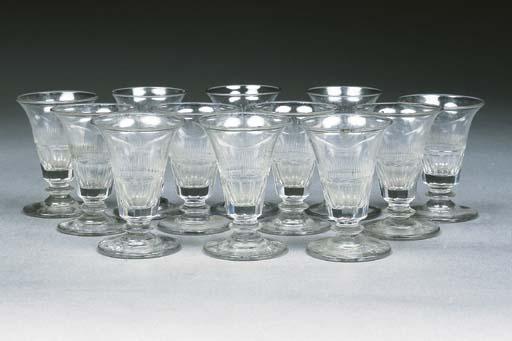 Twelve cut jelly glasses