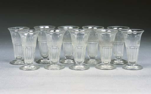 Ten cut jelly glasses