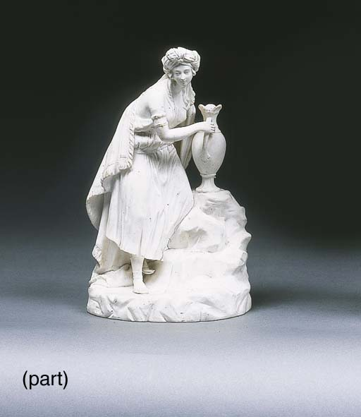 A Minton white biscuit figure