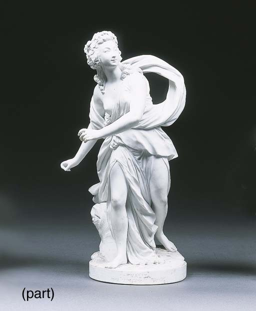 A Sèvres white biscuit figure