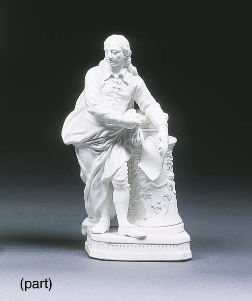 Two Derby figures of Milton