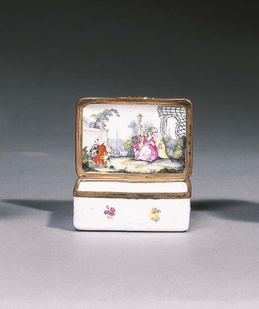 A German porcelain gilt-metal-