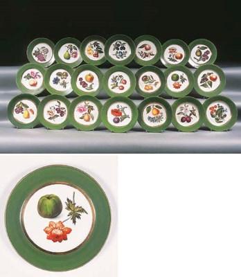 An English porcelain green-gro