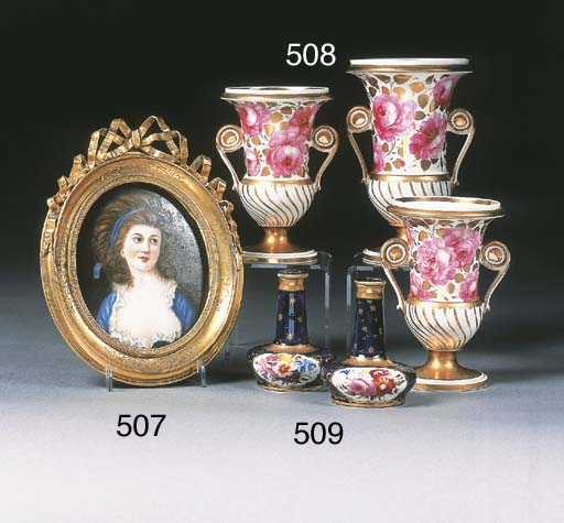 A pair of English porcelain da