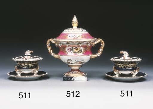 A Minton pink-ground Warwick v