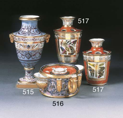 An English porcelain cylindric