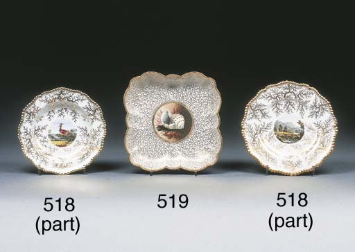 Six pieces of Worcester (Fligh
