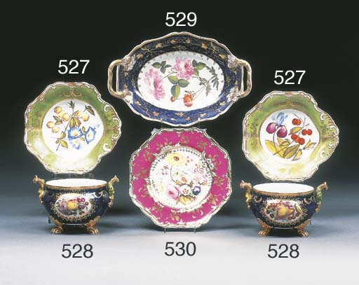 A pair of Spode green-ground s