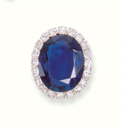 A SAPPHIRE RING, BY VAN CLEEF