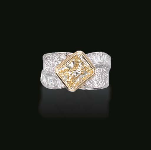 A DIAMOND AND YELLOW DIAMOND R