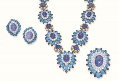 A SUITE OF SAPPHIRE, TURQUOISE
