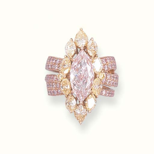 A VERY LIGHT PINK DIAMOND AND