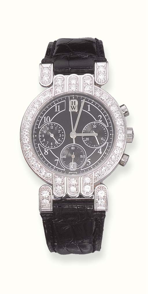 A DIAMOND AND 18K WHITE GOLD S