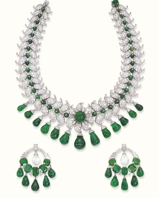 A MAGNIFICENT EMERALD DROP AND