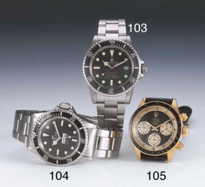 ROLEX. A FINE AND RARE 18CT GO