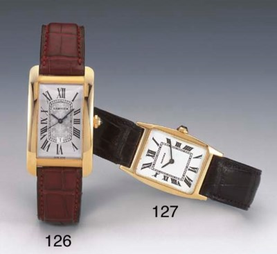 CARTIER. AN 18CT GOLD AUTOMATI