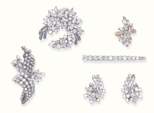 A GROUP OF DIAMOND JEWELLERY