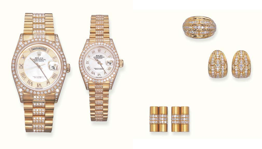 A GROUP OF 18K GOLD AND DIAMON