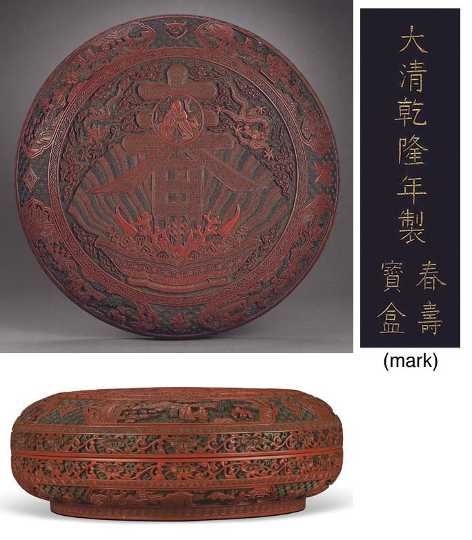 A LARGE POLYCHROME-LACQUER CIR