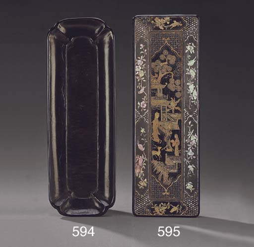 A MOTHER-OF-PEARL INLAID BLACK