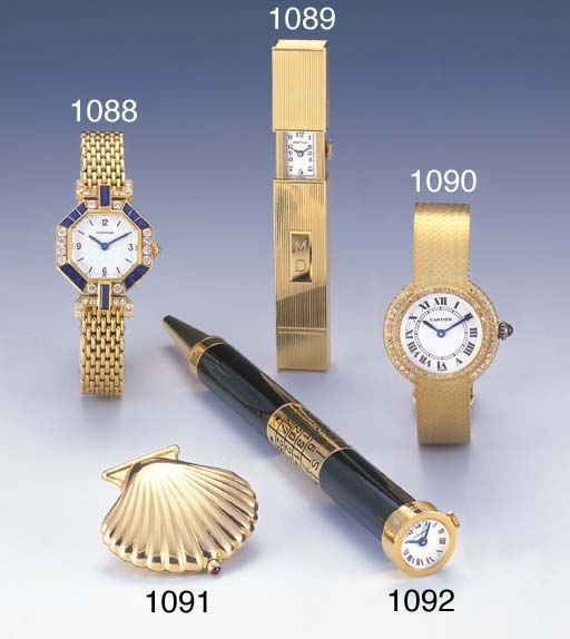 CARTIER. A LADY'S 18K GOLD AND