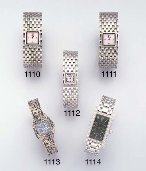 CARTIER. A LADY'S STAINLESS ST
