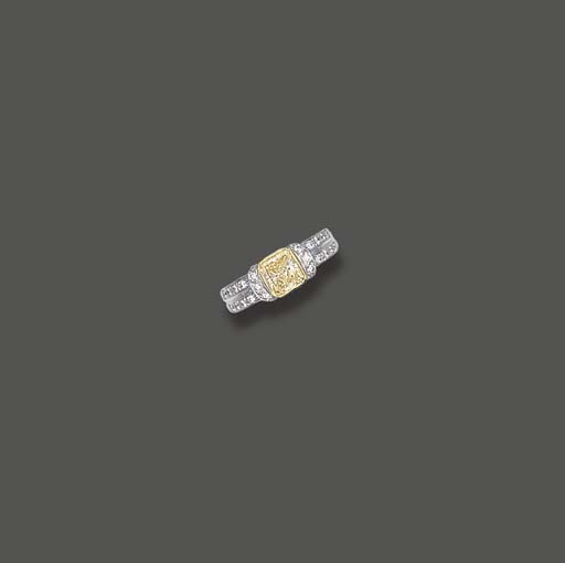 A FANCY LIGHT YELLOW DIAMOND A