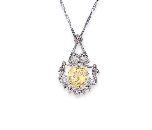 A BELLE EPOQUE YELLOW SAPPHIRE