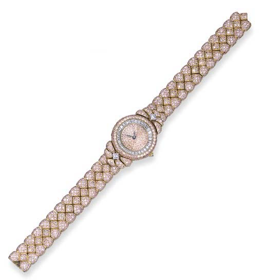 A LADY'S 18K PINK GOLD, PINK D