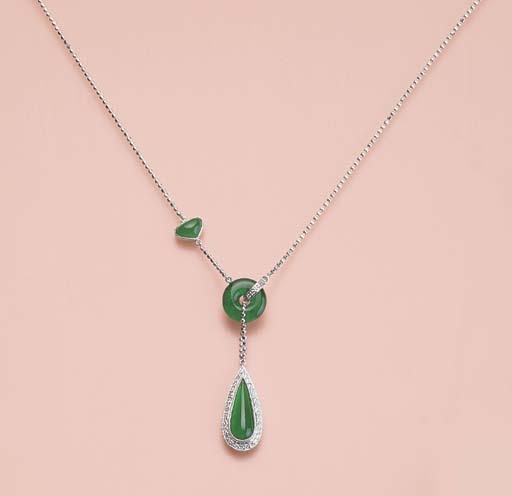 A UNIQUE JADEITE AND DIAMOND N