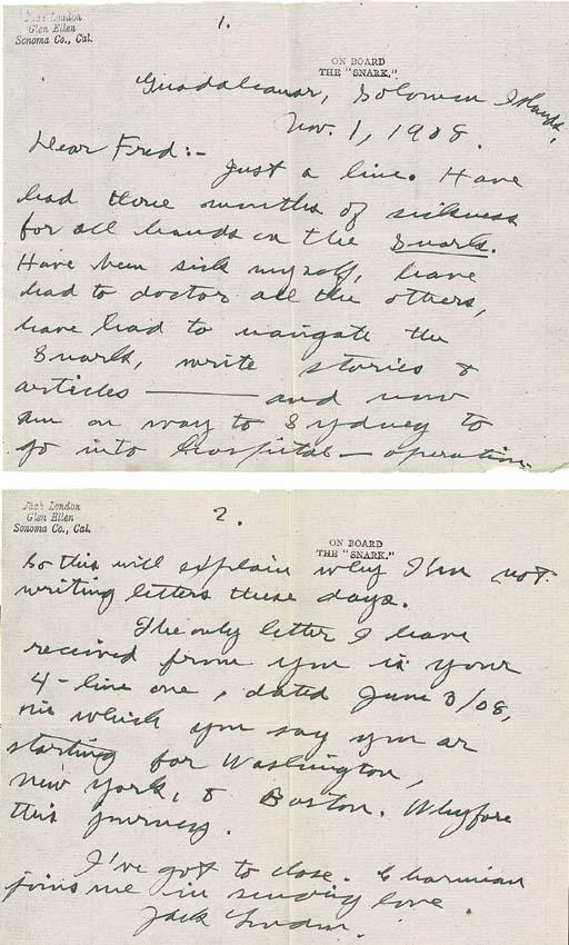 LONDON, Jack (1876-1916). South Sea Tales. New York: Macmillan, 1911.