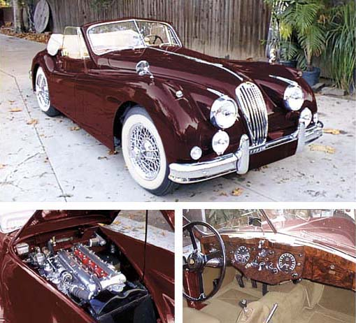 1954 Jaguar Xk140: 1956 JAGUAR XK140 MC DROPHEAD COUPE