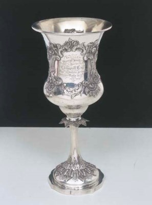 WILLS family, silver trophy cu