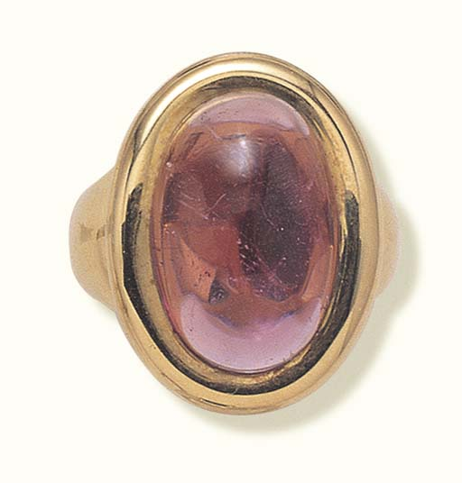 A PINK TOURMALINE RING, BY CAR