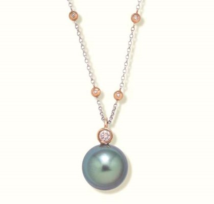 A TAHITIAN GREY CULTURED PEARL