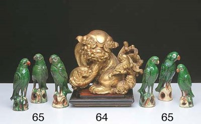 A CHINESE GILTWOOD CARVED FIGU