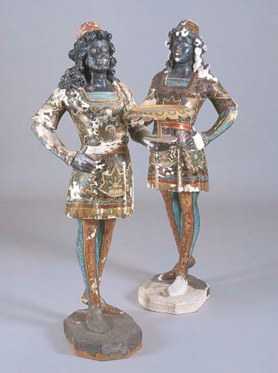 A PAIR OF VENETIAN PARCEL GILT