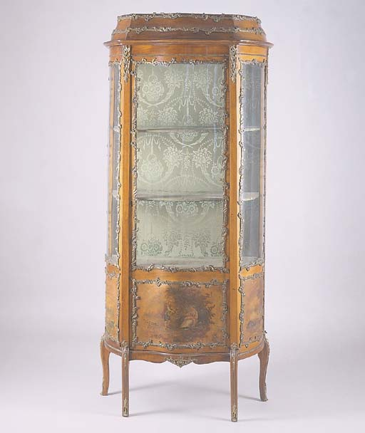 A LOUIS XV STYLE WALNUT AND GI
