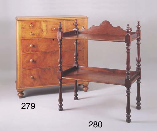 A VICTORIAN HUON PINE CHEST OF