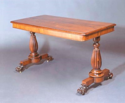A GEORGE IV ROSEWOOD TABLE