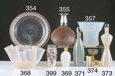 A MURANO GLASS DECANTER