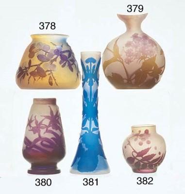 A PURPLE OVERLAID CAMEO GLASS