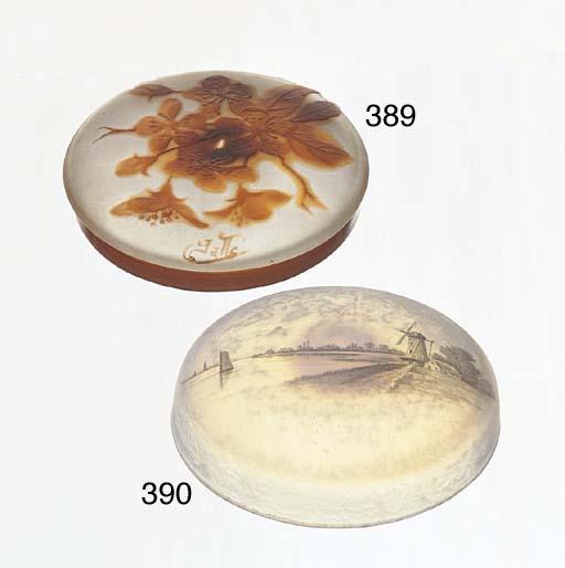 AN ORANGE OVERLAID CAMEO-GLASS