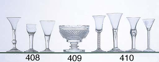 AN IRISH CUT GLASS VASE