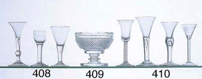 FOUR ANTIQUE WINE GLASSES